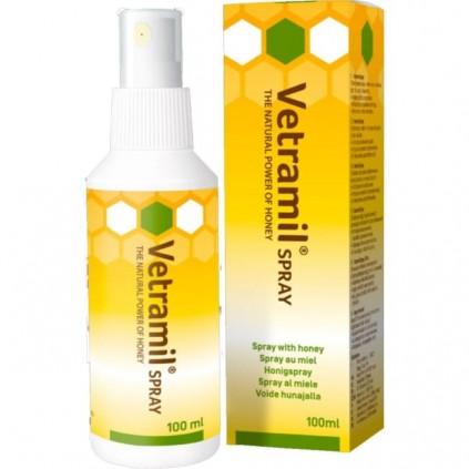 Sårspray med honning fra Vetramil