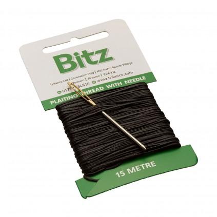 Svart Flettetråd m/nål fra Bitz